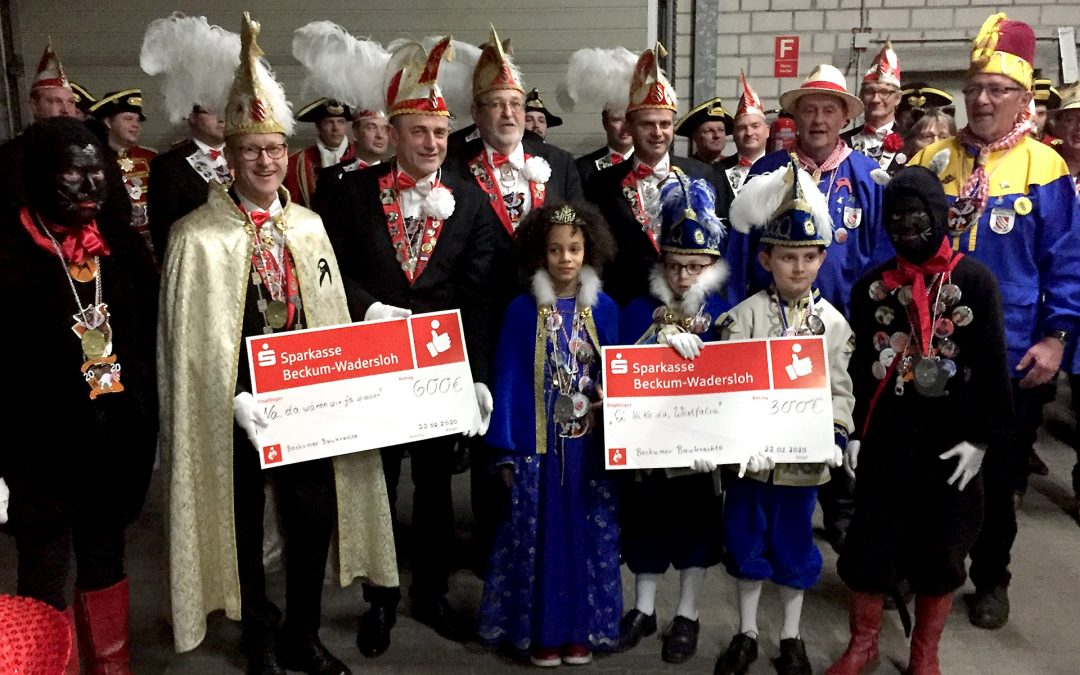 Beckumer Karneval Spendenübergabe 2020
