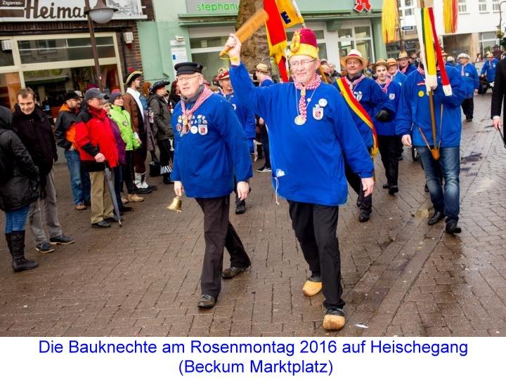 Beckumer Bauknechte Heischegang 2016